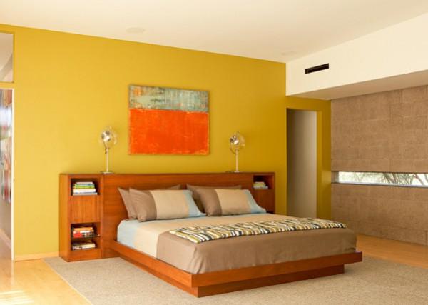 El color mostaza en la pintura de las paredes y la for Pintura interior colores combinaciones