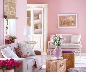 Pintura salón rosa