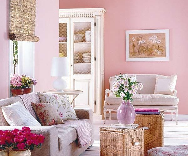 sal n en color rosa. Black Bedroom Furniture Sets. Home Design Ideas