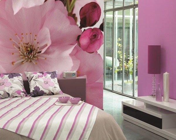 fotomural rosa
