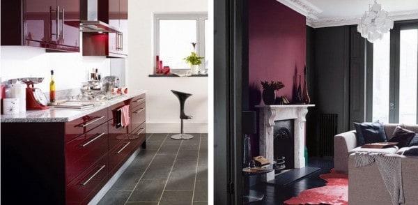 Color bord o vino tinto - Colores que combinan con el granate en paredes ...