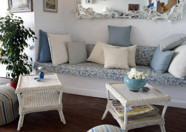 Rústico azul y blanco