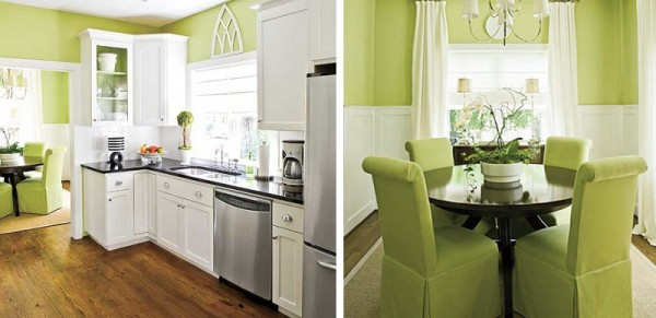 Pinta tu casa de verde pistacho for Pintura especial para cocinas