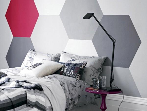 Figuras geom tricas pintadas en las paredes for Formas de pintar paredes interiores