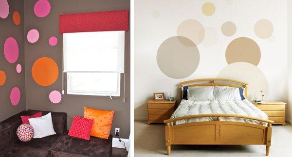 Figuras geom tricas pintadas en las paredes - Paredes pintadas con dibujos ...