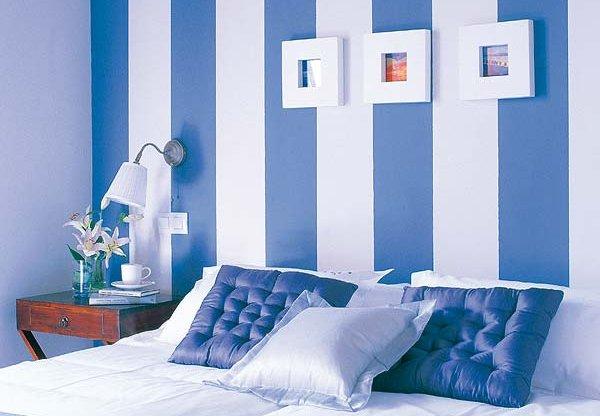 Figuras geom tricas pintadas en las paredes - Tecnicas para pintar una habitacion ...