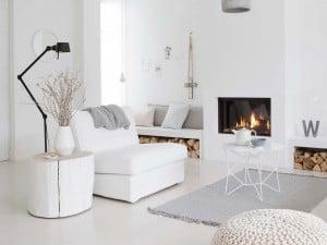 Decorar espacios íntegramente en blancos