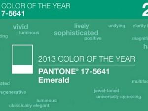 Verde esmeralda, el color Pantone para 2013