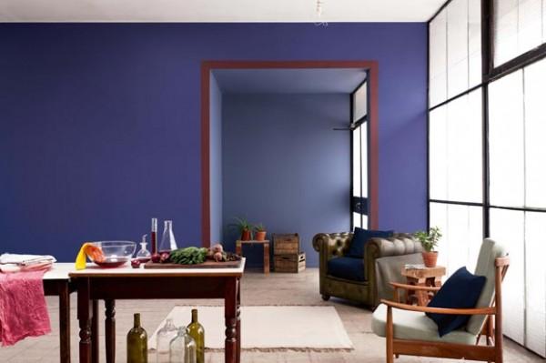 Pared violeta inspirado
