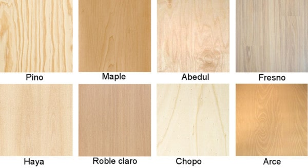 Las maderas claras for Colores maderas para muebles