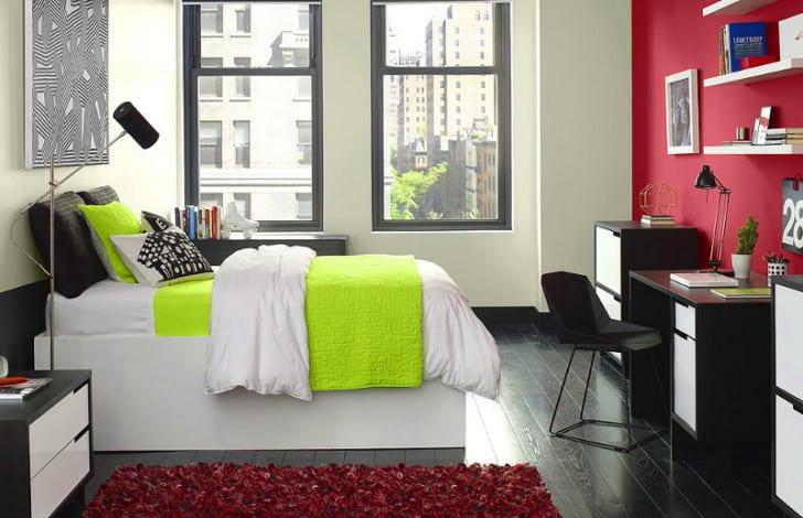 Dormitorio acolchado fluor