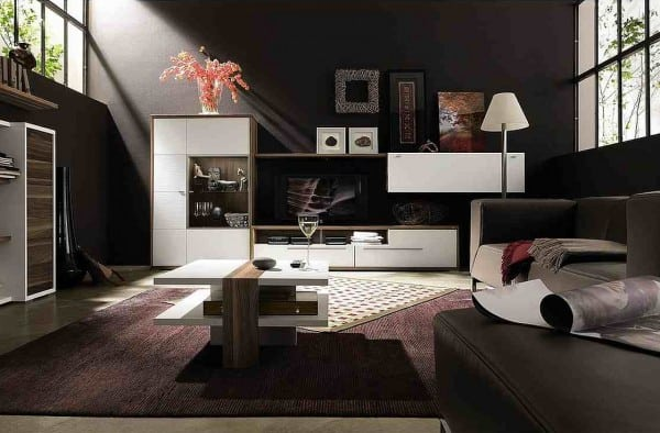 atrevete a pintar las paredes de negro. Black Bedroom Furniture Sets. Home Design Ideas
