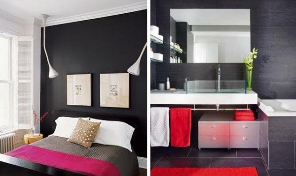 Atrevete a pintar las paredes de negro for Pintura gris azulado pared