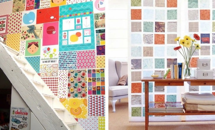 Paredes patchwork en colores
