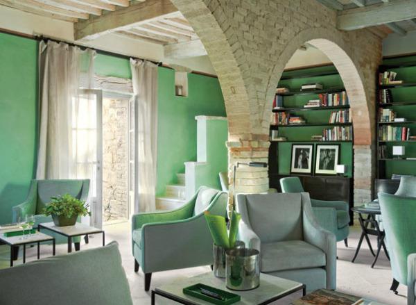 Tonalidades verdes para pintar las paredes for Pintura verde turquesa