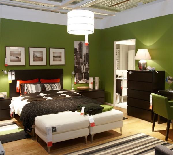 Tonalidades verdes para pintar las paredes for Colores para una recamara de pareja