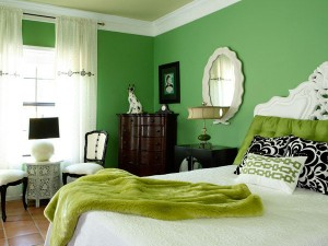 Tonalidades verdes para pintar las paredes