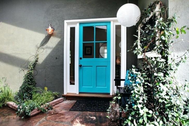 Puerta color turquesa