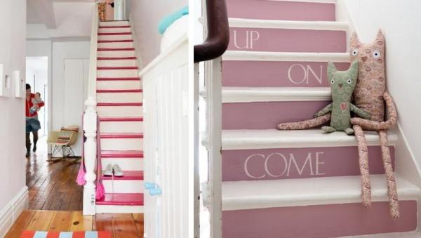 Ideas para pintar la escalera - Pinturas para madera interior ...