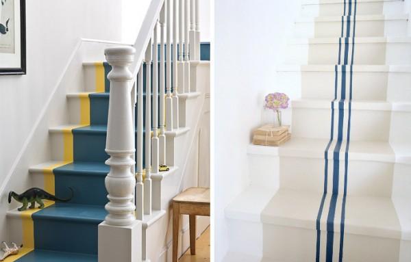 Ideas para pintar la escalera for Pintura para pisos colores