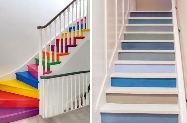 Ideas originales para pintar la escalera for Jaula de la escalera de color idea