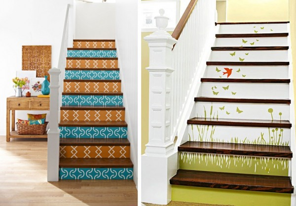 Ideas para pintar la escalera for Escaleras de madera decoracion ikea