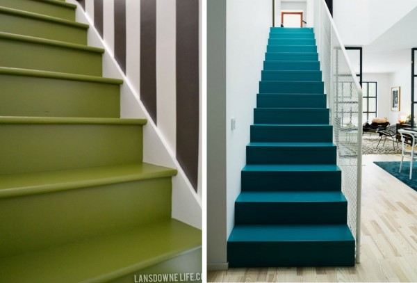 Ideas para pintar la escalera for Jaula de la escalera de color idea