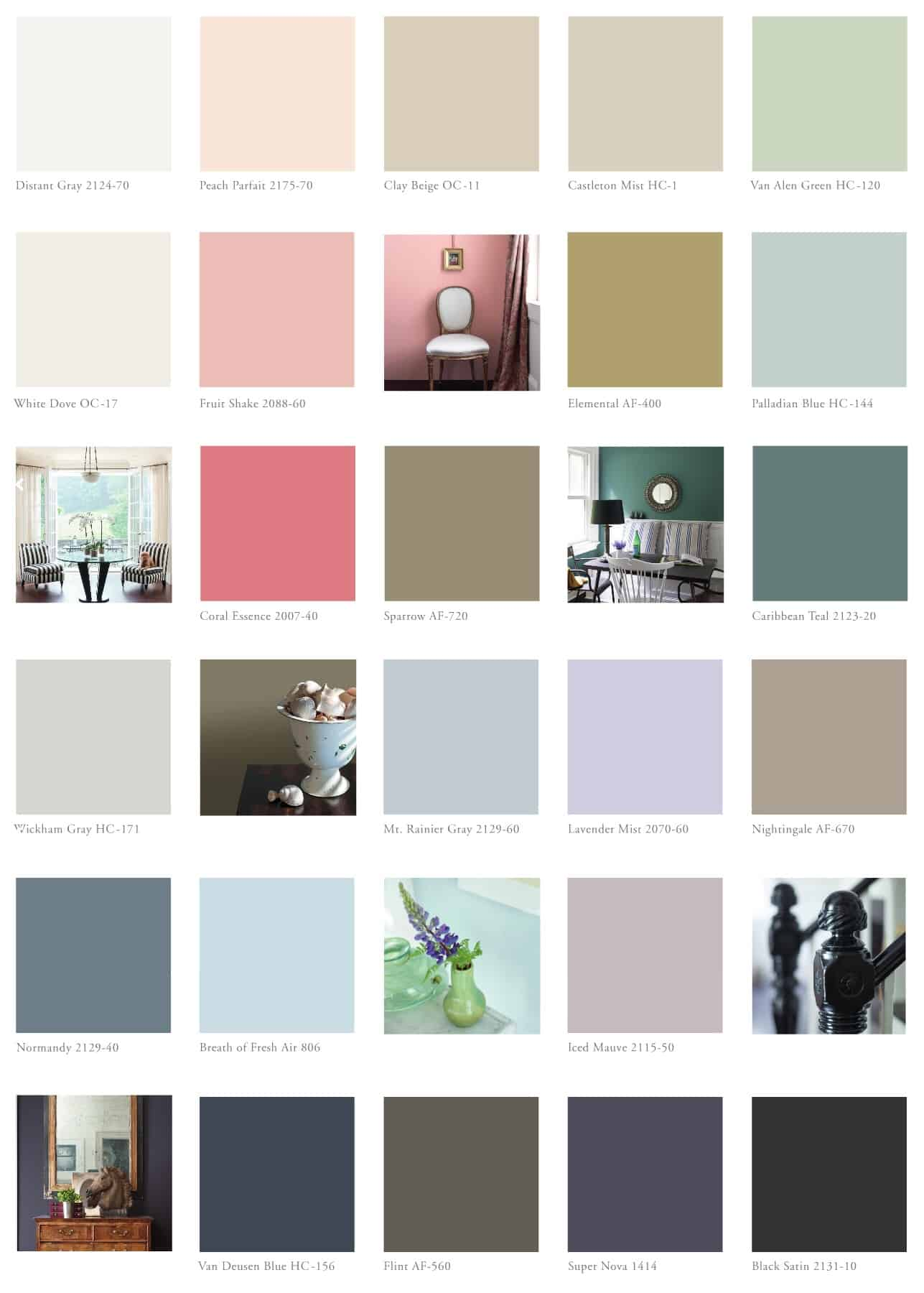 nueva paleta de colores benjamin moore 2014