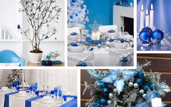 Decoracion navideña azul
