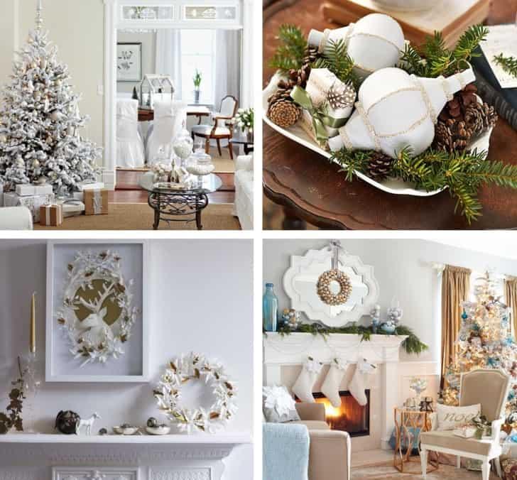 Decoracion navideña blanco