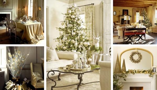 Decoracion navideña dorado