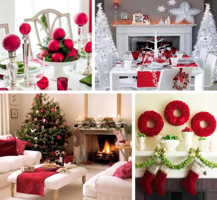 Decoracion navideña rojo