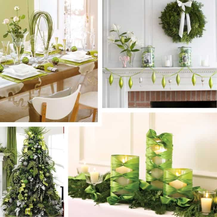 Decoracion navideña verde