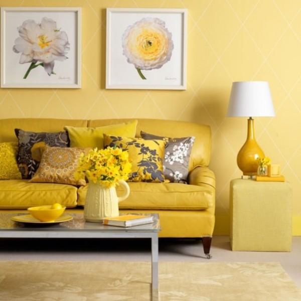 Pared amarillo