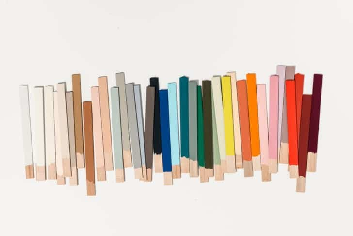 Muestras de colores de pintura