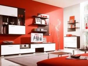El color rojo en la decoración de interiores