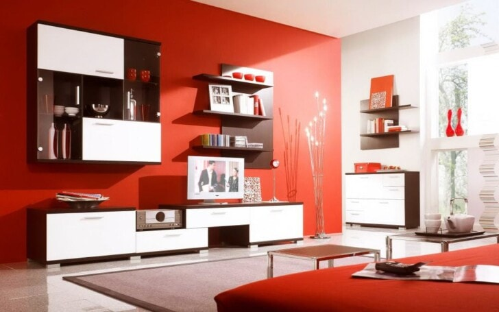 El color rojo en la decoración de interiores : PintoMiCasa.com