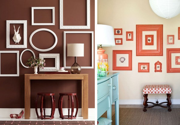 Reacondicionar objetos viejos para decorar - Como decorar pared con fotos ...