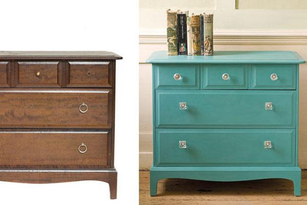 Reacondicionar objetos viejos para decorar - Muebles de colores pintados ...