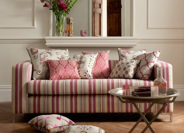 Sofa a rayas