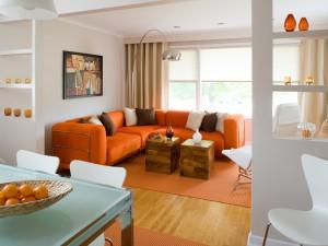 El naranja en la decoración de interiores