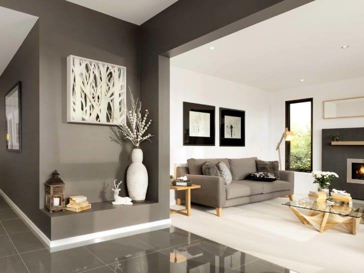 Ambiente gris y blanco
