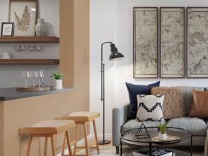 Cómo dividir ambientes sólo con color y pintura