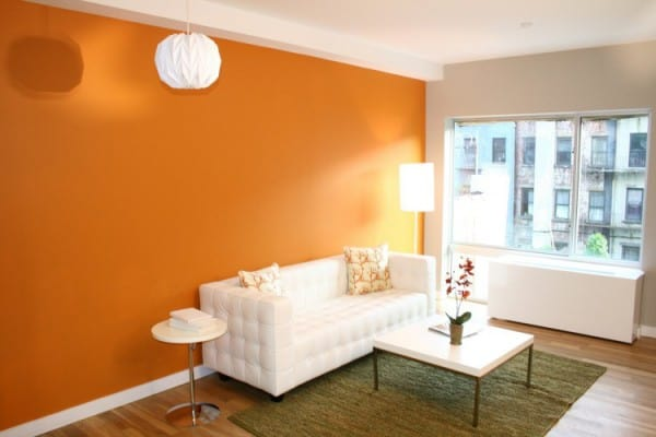Dividir ambiente con color y pintura for Pintura pared color vison