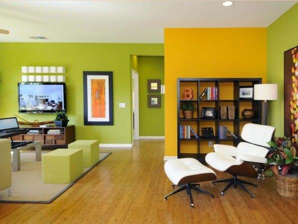 Dividir ambiente con color y pintura for Colores para cocina comedor