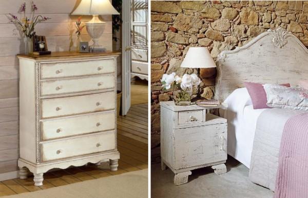 Muebles de dormitorio decapados