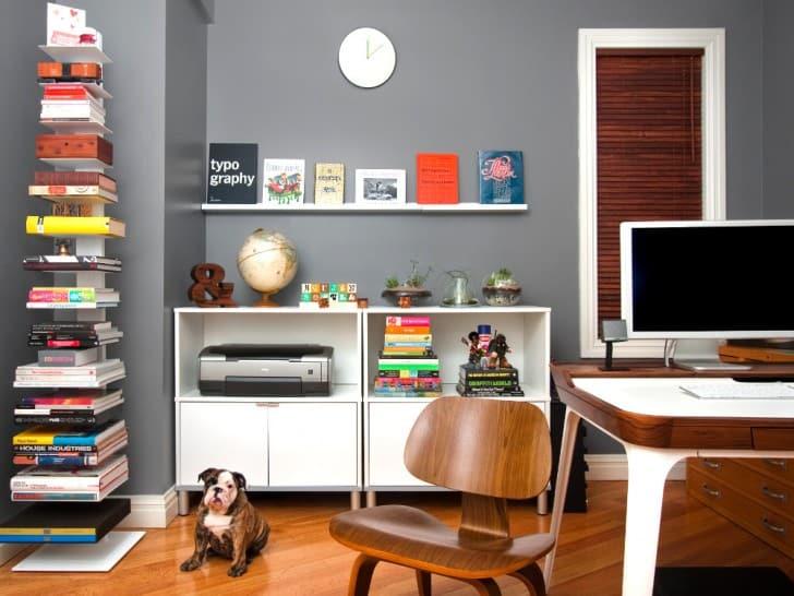 Oficina de color gris
