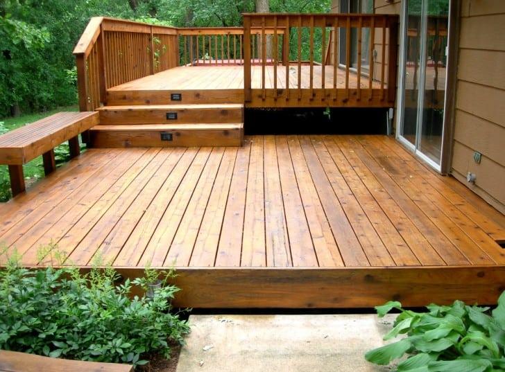 Deck de madera exterior