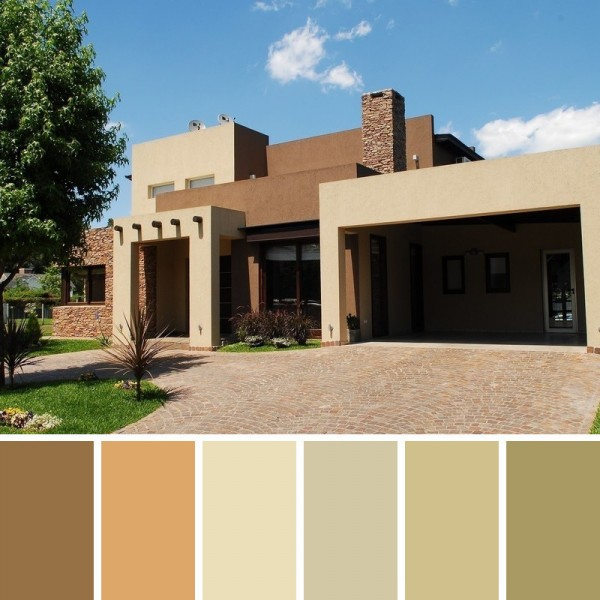 Colores de pintura para fachadas y exteriores for Casas pintadas interior colores