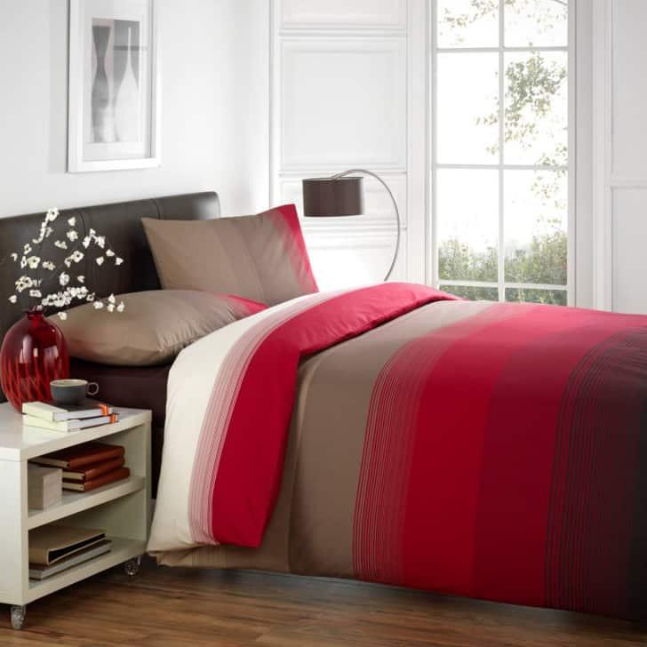 Cobertor cama rojo